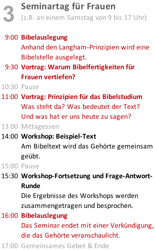 <strong>Seminartag für Frauen</strong>